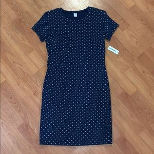 Blue Polka Dot Bodycon Dress